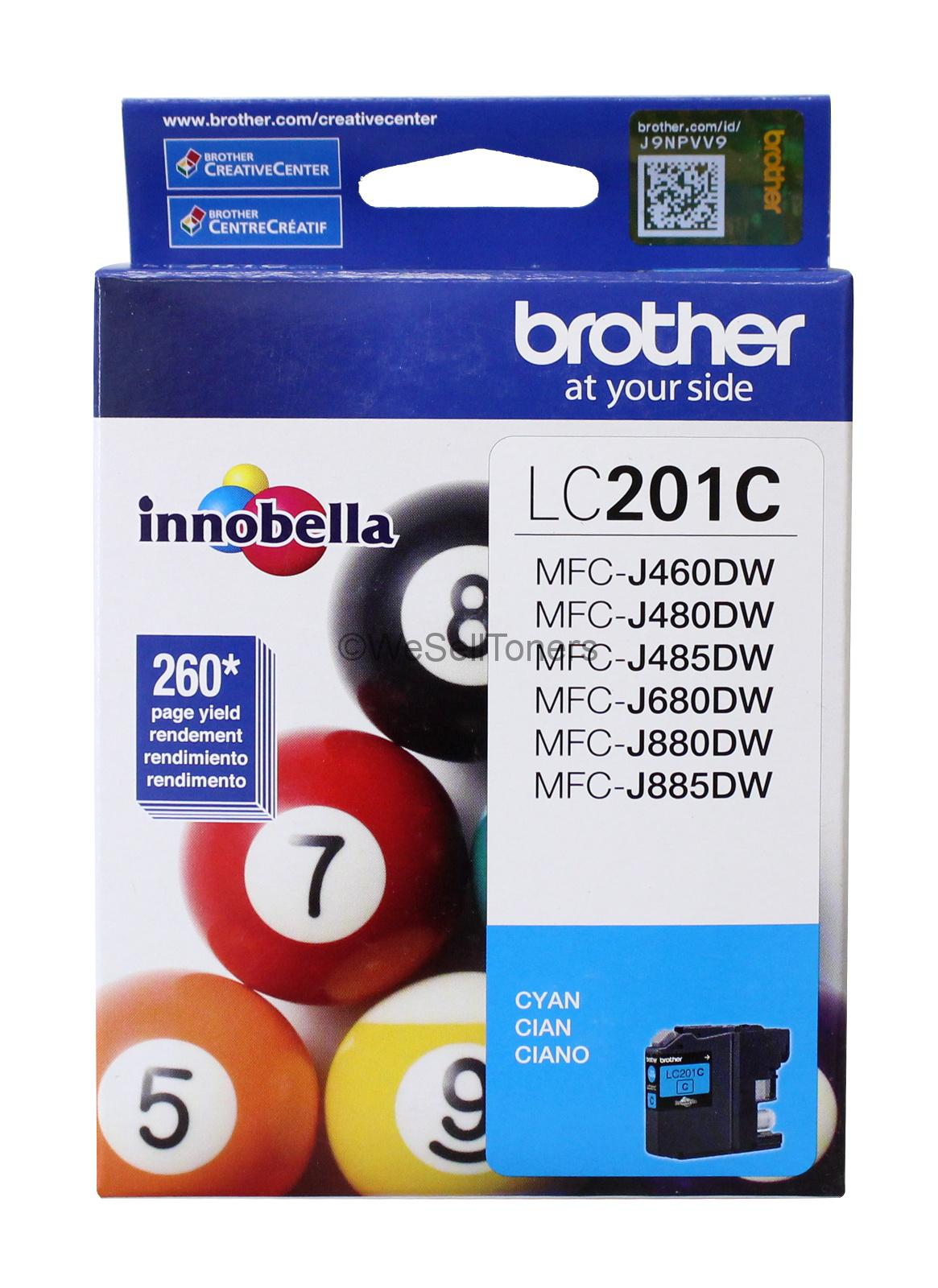 Brother LC201C Cyan Ink Cartridge Innobella Genuine New