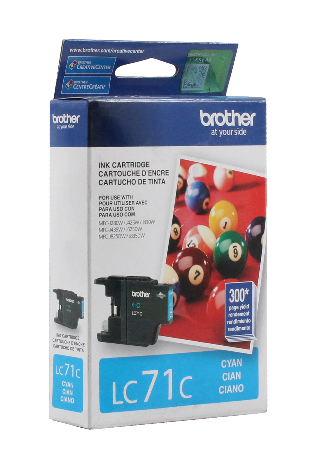 Brother LC71C Cyan Ink Cartridge MFC-J280W Genuine New