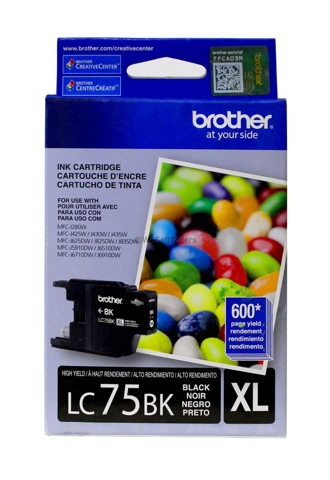 Brother LC75BK XL Black Ink Cartridge MFC-J280W Genuine