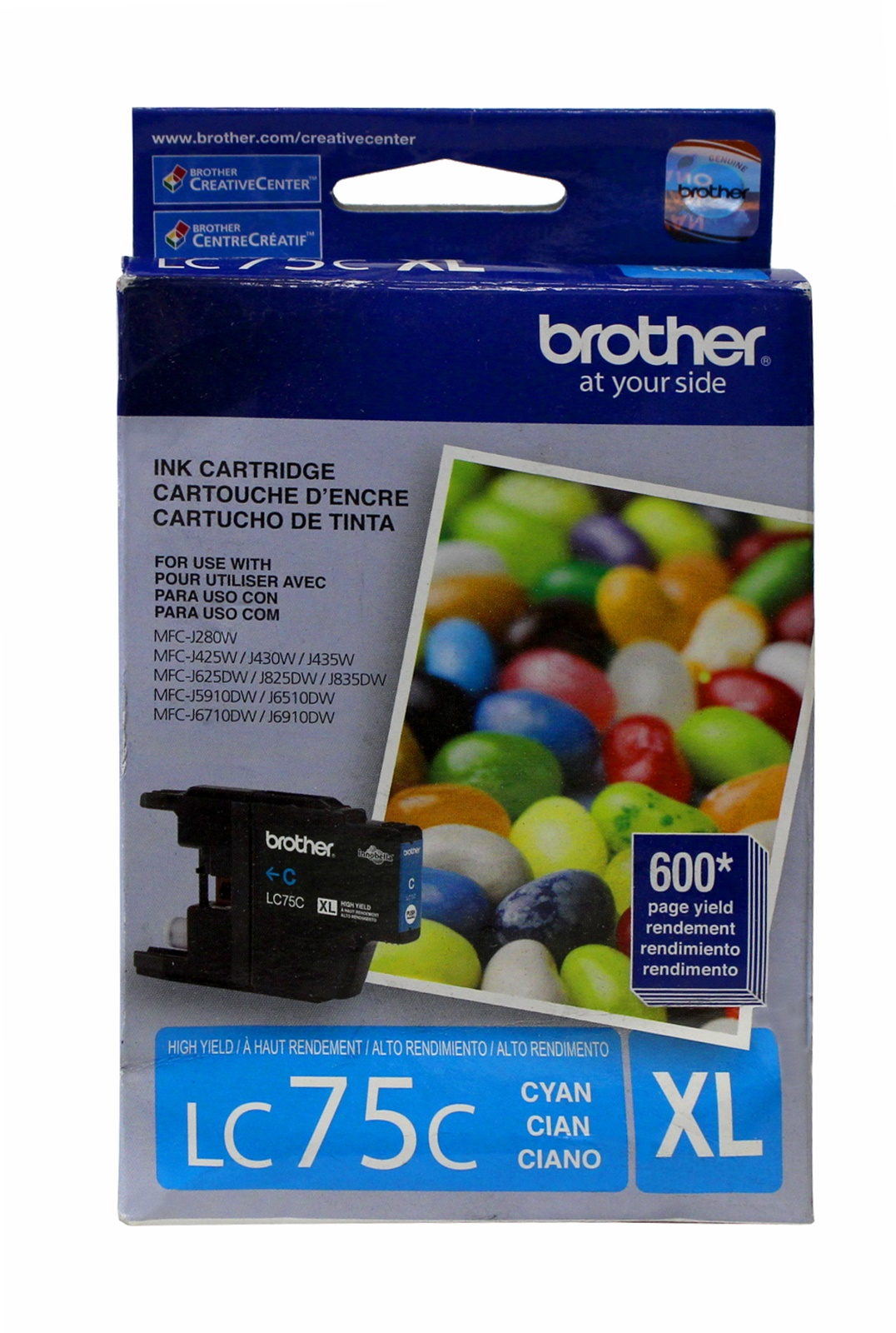 Brother LC75C XL Cyan Ink Cartridge MFC-J280W Genuine New