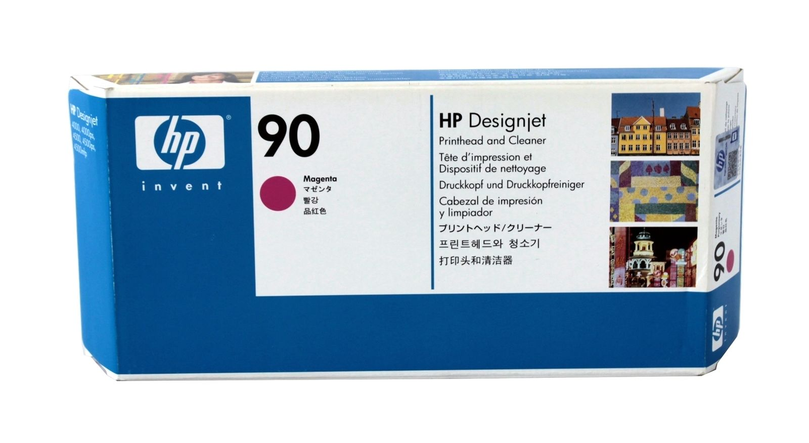 Details About Hp 90 Magenta Printhead Cleaner C5056a Genuine New 81 Yellow Designjet Dye And Original