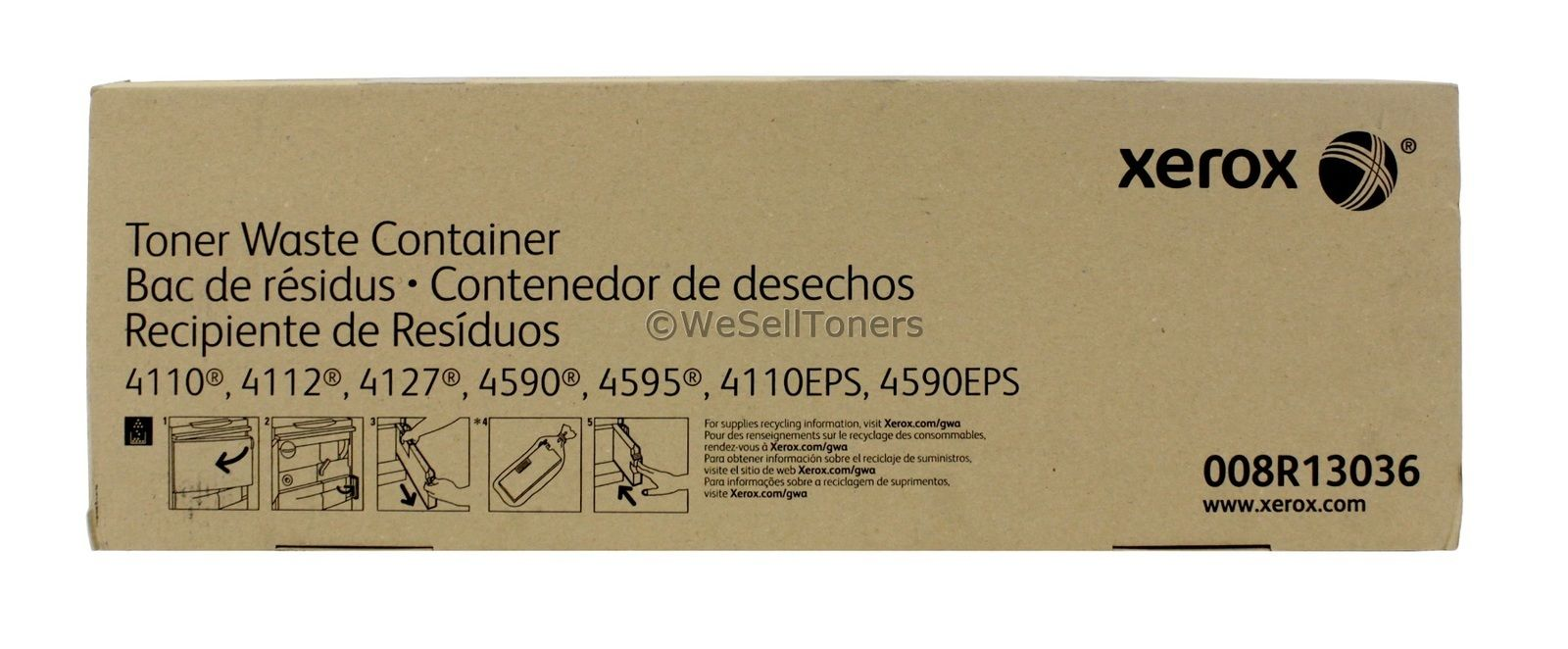 8R13036 XEROX 4110 4590 TONER WASTE CONTAINER